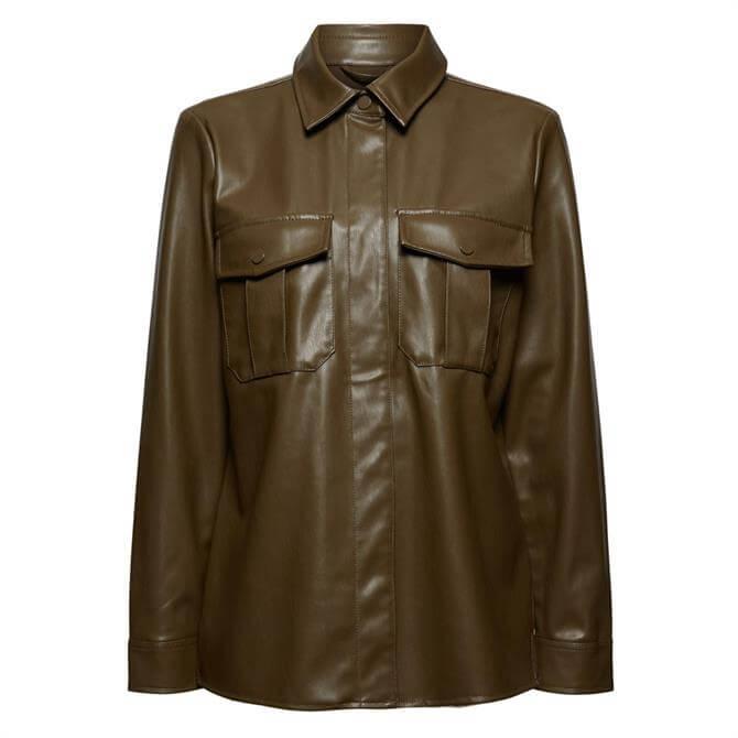 Esprit Faux Leather Overshirt
