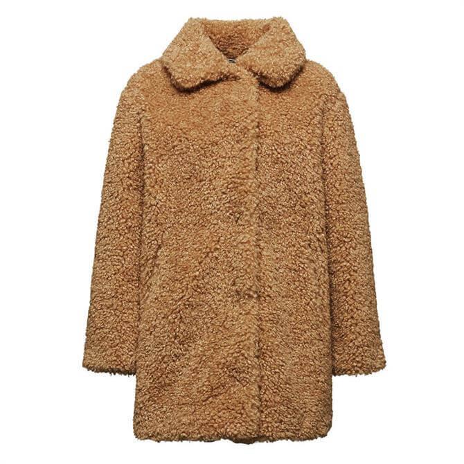 Esprit Faux Shearling Fur Coat
