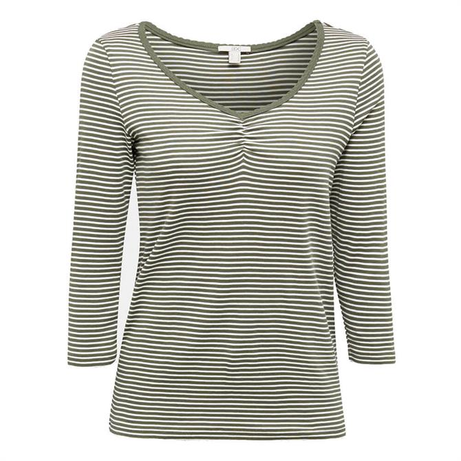 Esprit Fine Striped Fitted Top