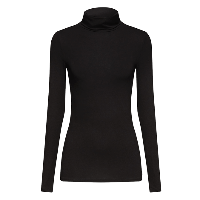 Esprit Fitted Stretch Polo Neck Top