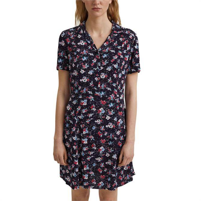 Esprit Floral Print Short Shirt Dress
