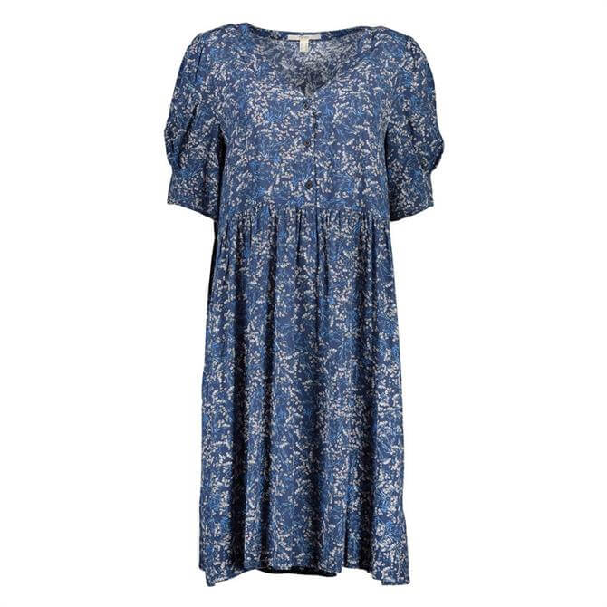 Esprit Floral Short Volume Sleeve Dress
