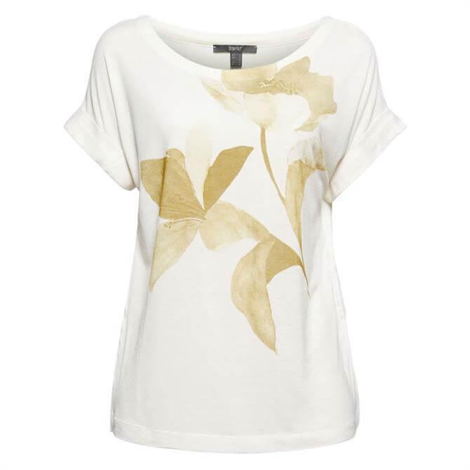 Esprit Flower Motif T-Shirt