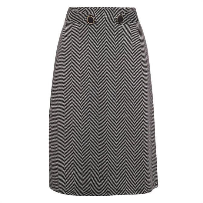 Esprit Herringbone Flared Skirt