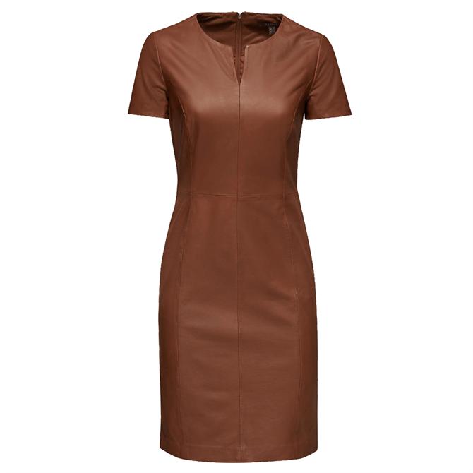 Esprit Leather Sheath Dress