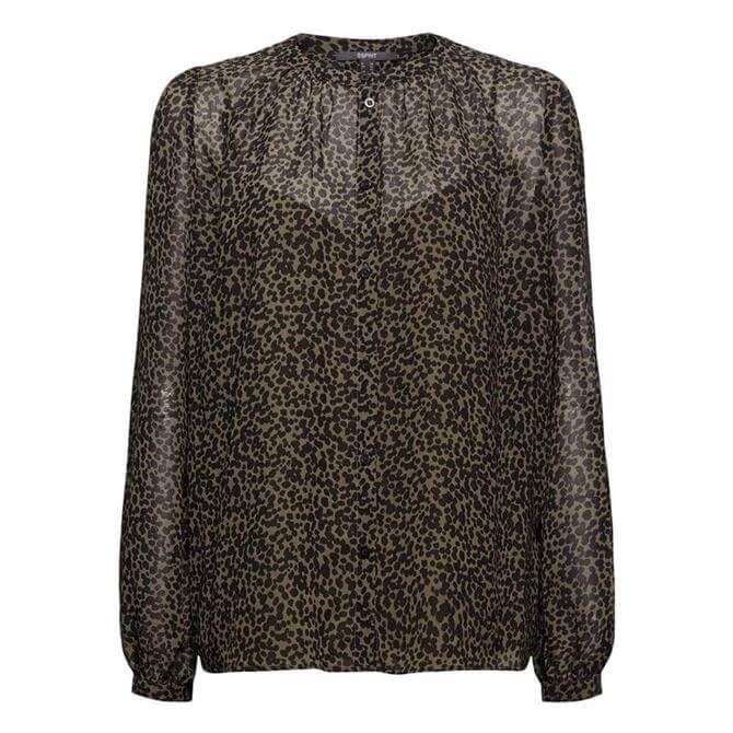 Esprit Leopard Print Chiffon Blouse