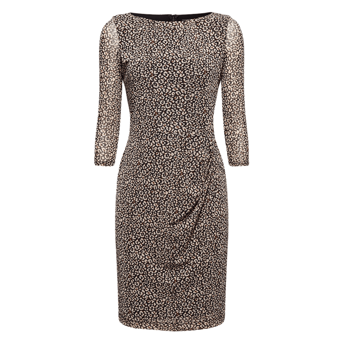 Esprit Leopard Print Mesh Dress
