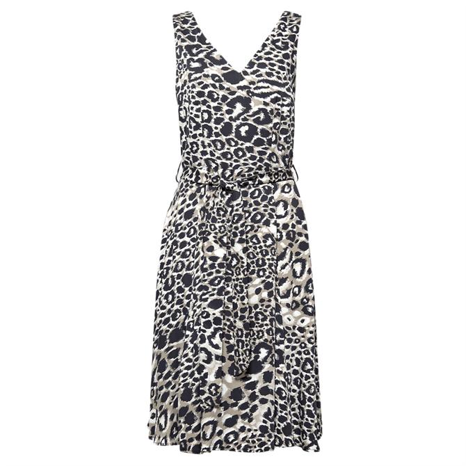 Esprit Leopard V-Neck Dress