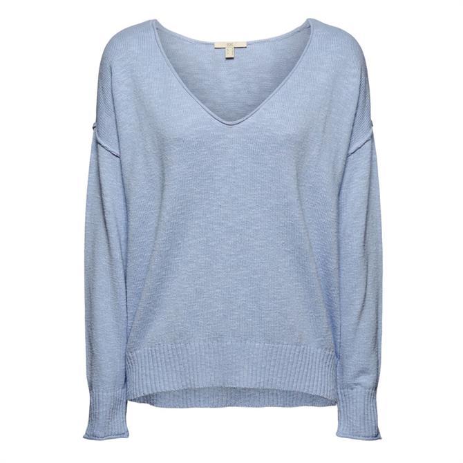 Esprit Cotton Linen V-Neckline Jumper