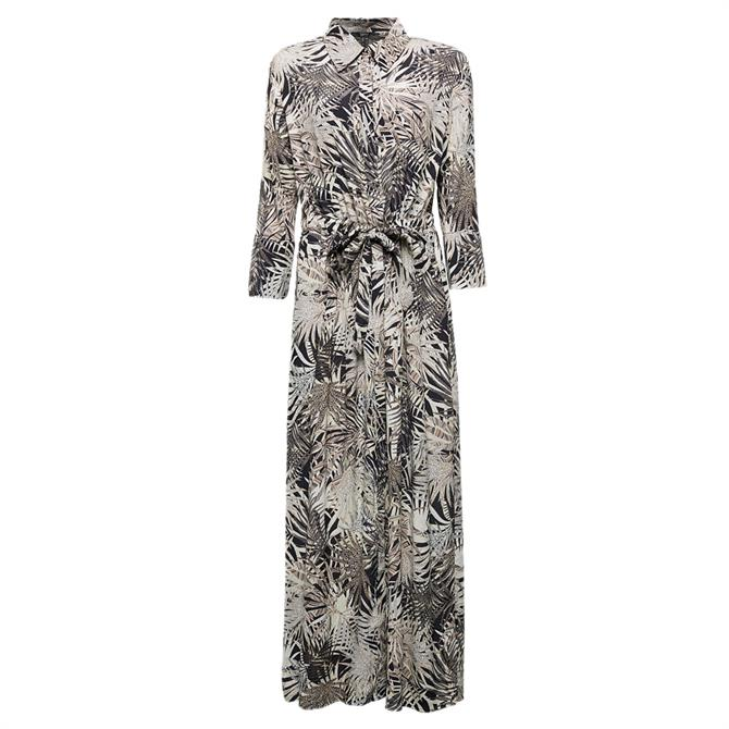 Esprit Palm Tree Maxi Shirt Dress