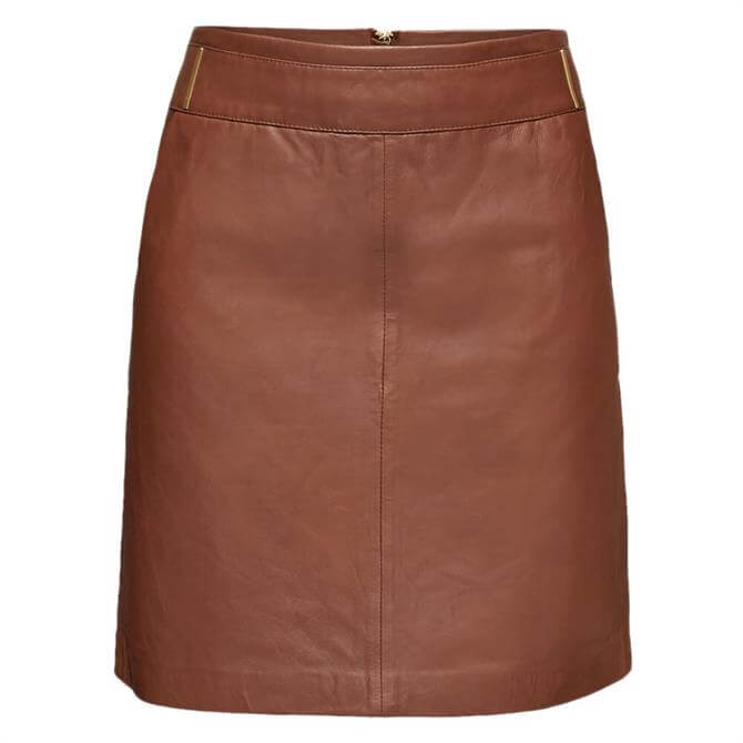 Esprit Metal Detail Leather Skirt