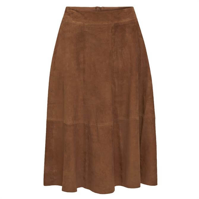Esprit Midi Flared Leather Skirt