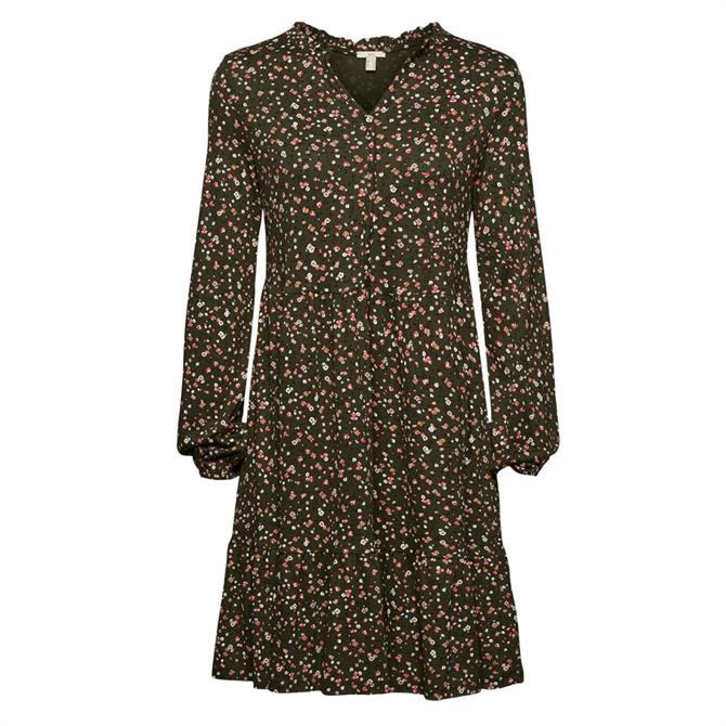 Esprit Mille-Fleurs Print Jersey Dress