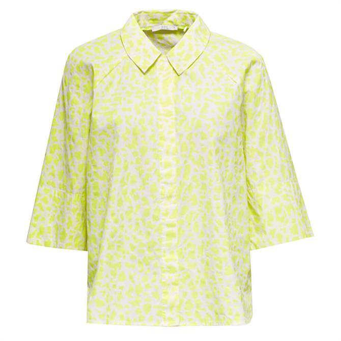 Esprit Neon Animal Print Short Sleeved Blouse