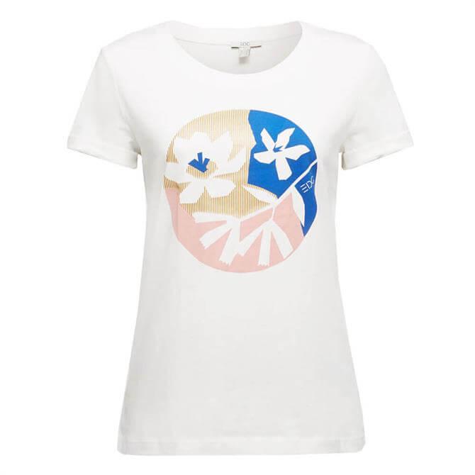 Esprit Front Print Organic Cotton T-Shirt