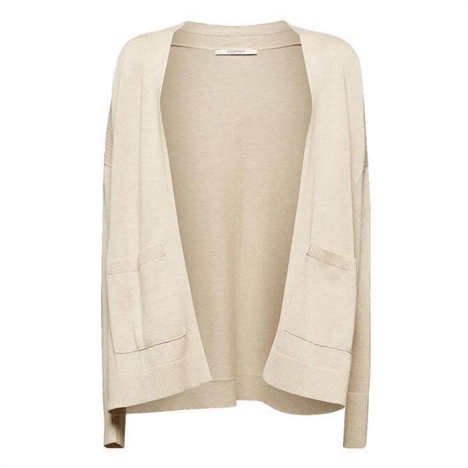 Esprit Organic Cotton Open Cardigan