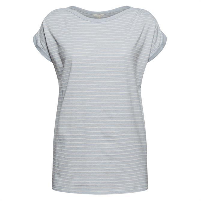 Esprit Organic Cotton Striped Short Sleeved Tee