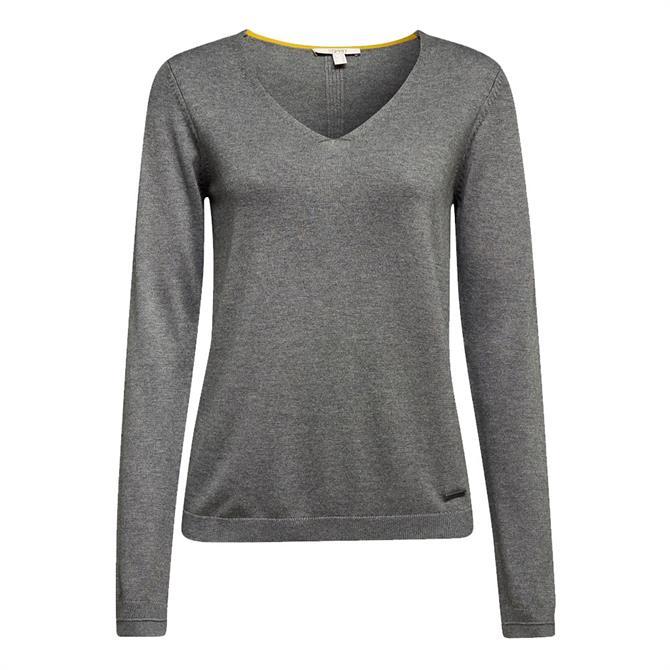 Esprit Organic Cotton V-Neck Sweater