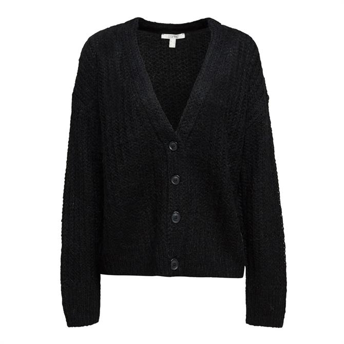 Esprit patterned Knit Wool Blend Cardigan