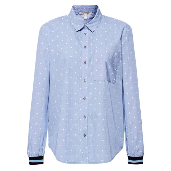 Esprit Fine Check & Dot Print Shirt