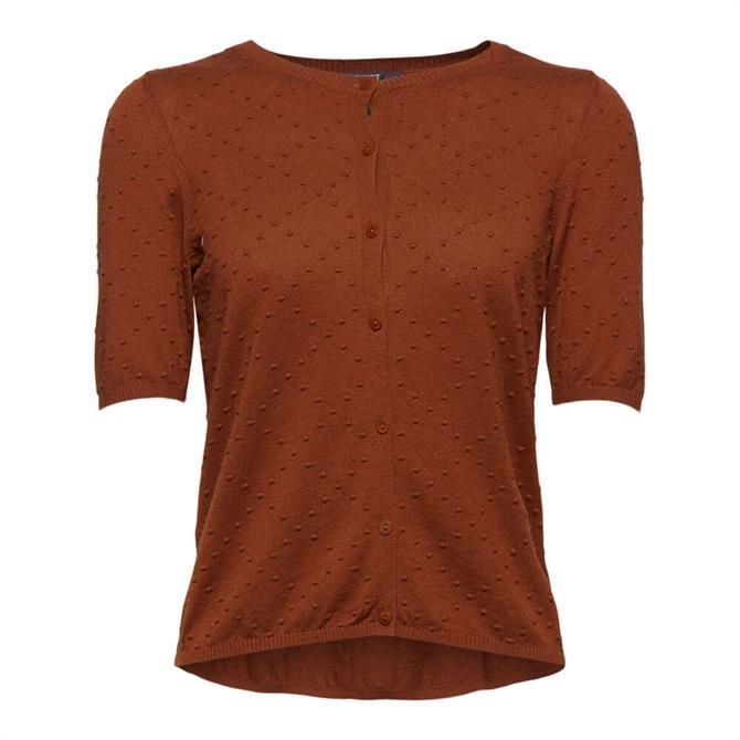 Esprit Polka Dot Textured Short Sleeved Cardigan
