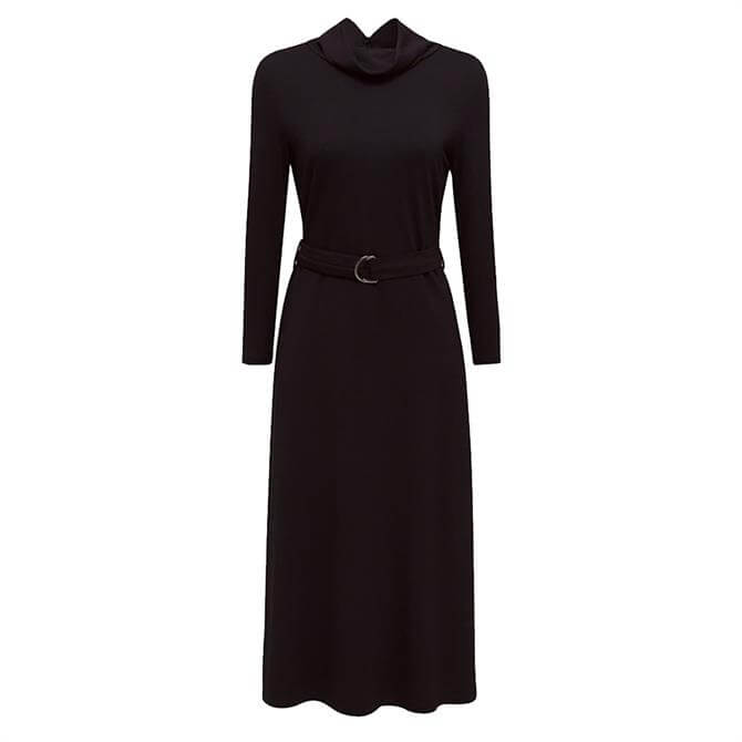 Esprit Polo Neck Belted Dress