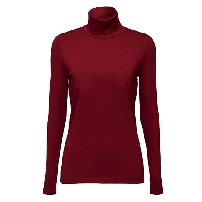 Esprit Organic Cotton Polo Neck Top