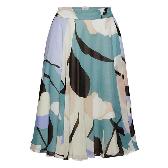 Esprit Print Flared Skirt