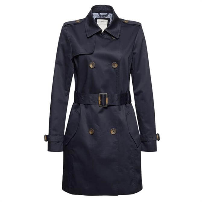Esprit Recycled Trench Coat with Organic Cotton