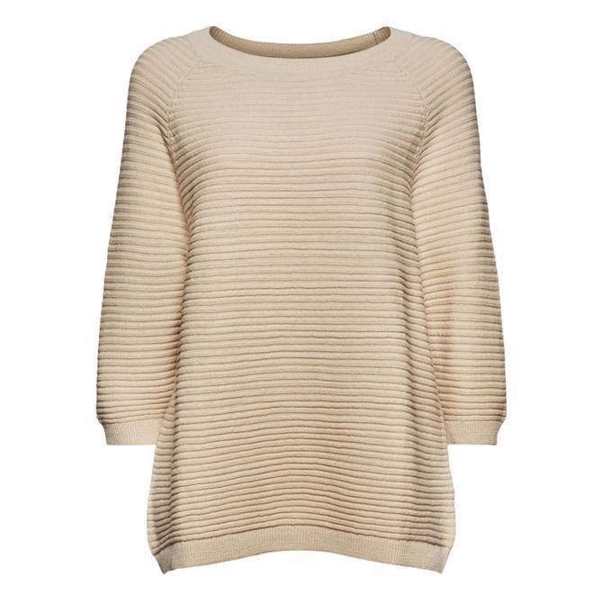 Esprit Rib Knit Cotton Linen Jumper