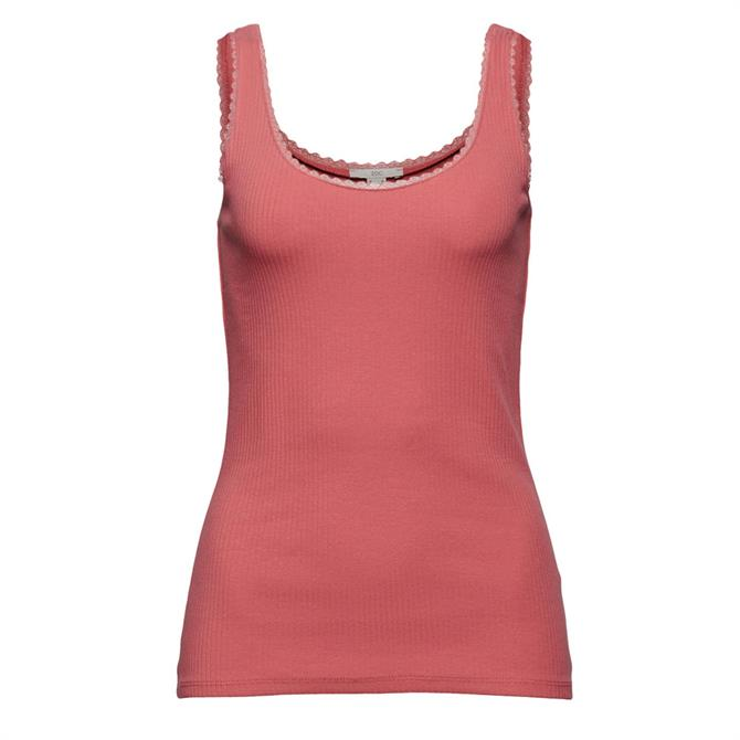 Esprit Lace Edge Ribbed Sleeveless Top