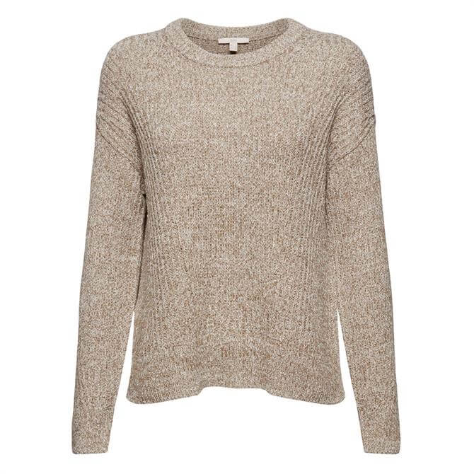 Esprit Ribbed Organic Cotton Round Neck Sweater