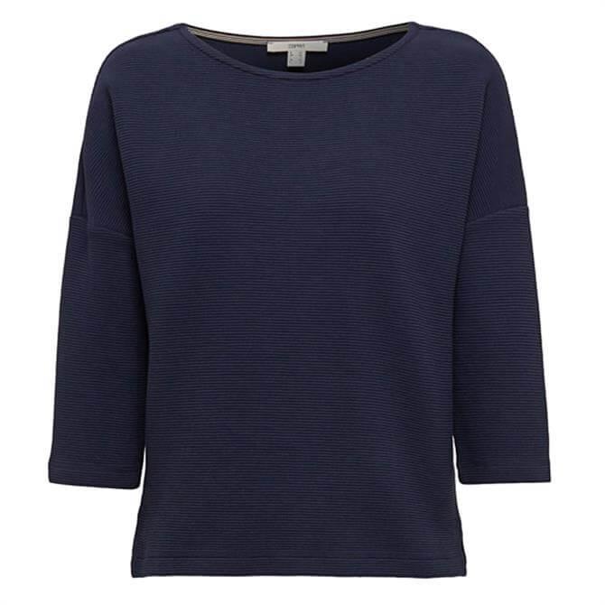 Esprit Ribbed Texture Boxy Sweatshirt