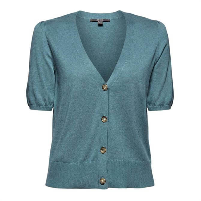 Esprit Short Puff Sleeve Cardigan