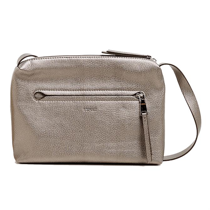Esprit Small Faux Leather Taupe Shoulder Bag