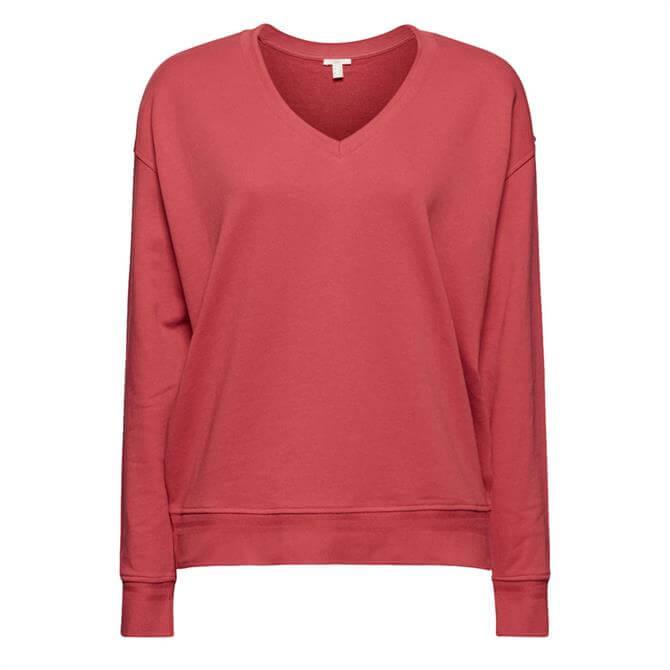 Esprit V Neck Soft Organic Cotton Sweatshirt
