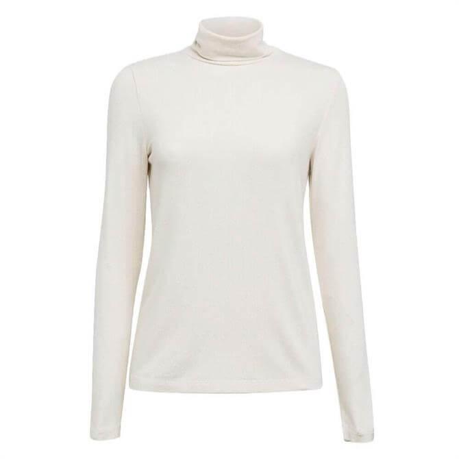 Esprit Soft Ribbed Polo Neck Top
