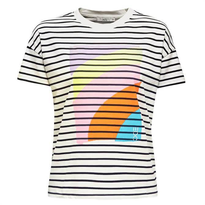 Esprit Colour Print Striped T-Shirt