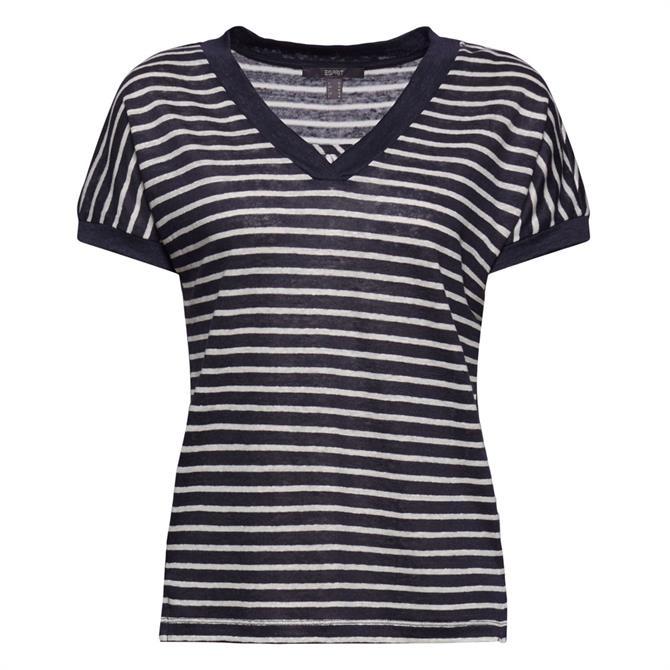 Esprit Striped Linen T-Shirt