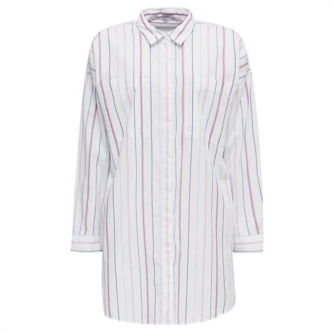 Esprit Striped Long Length Shirt