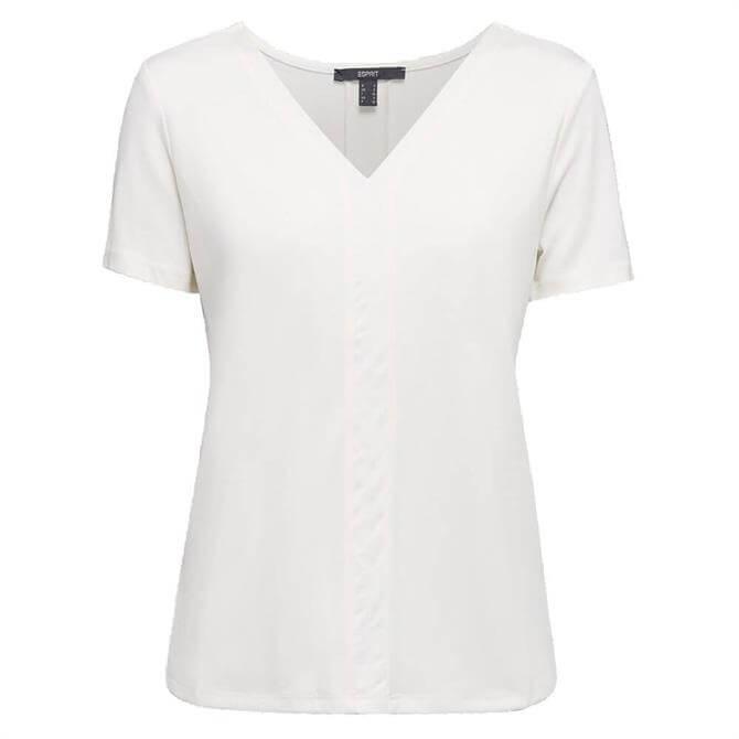 Esprit Lyocell V-Neck T-Shirt