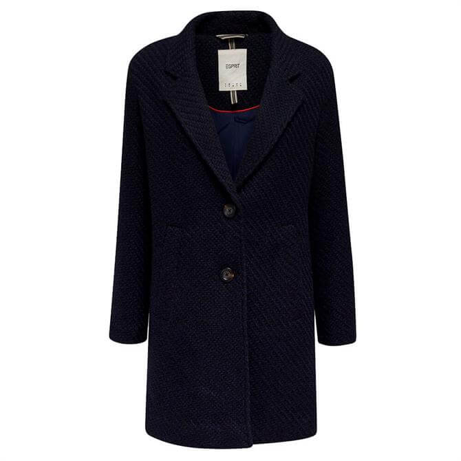 Esprit Textured Single Breasted Coat