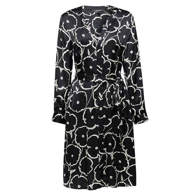 Esprit Floral Tie Belt Shirt Blouse Dress
