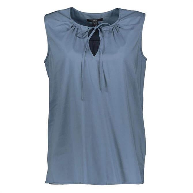 Esprit Tie Front Sleeveless Top