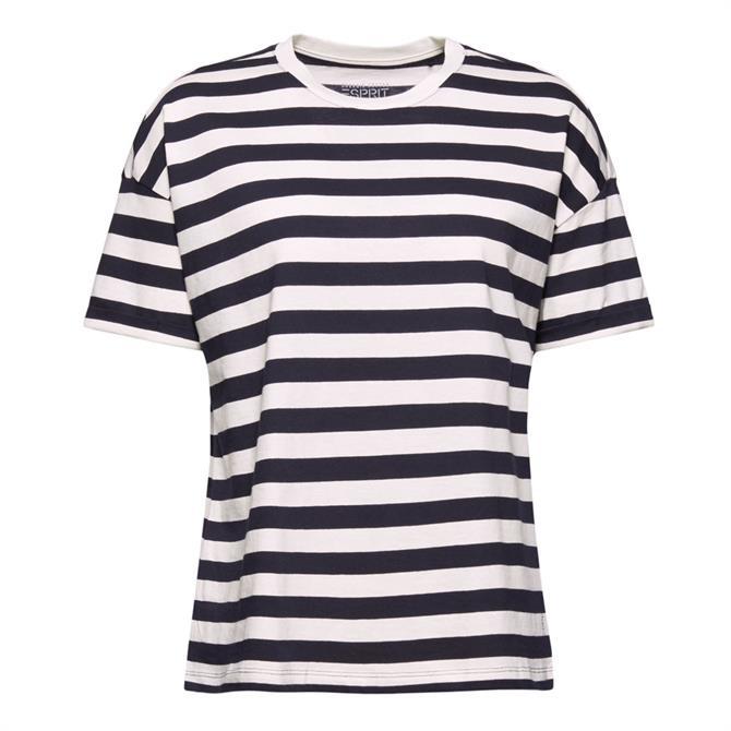 Esprit Organic Cotton Two-Tone Striped T-Shirt