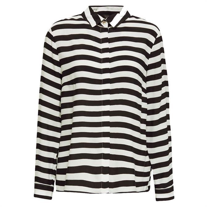 Esprit Wide Striped Crêpe Blouse