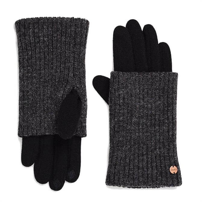 Esprit Contrast Wool Blend Gloves