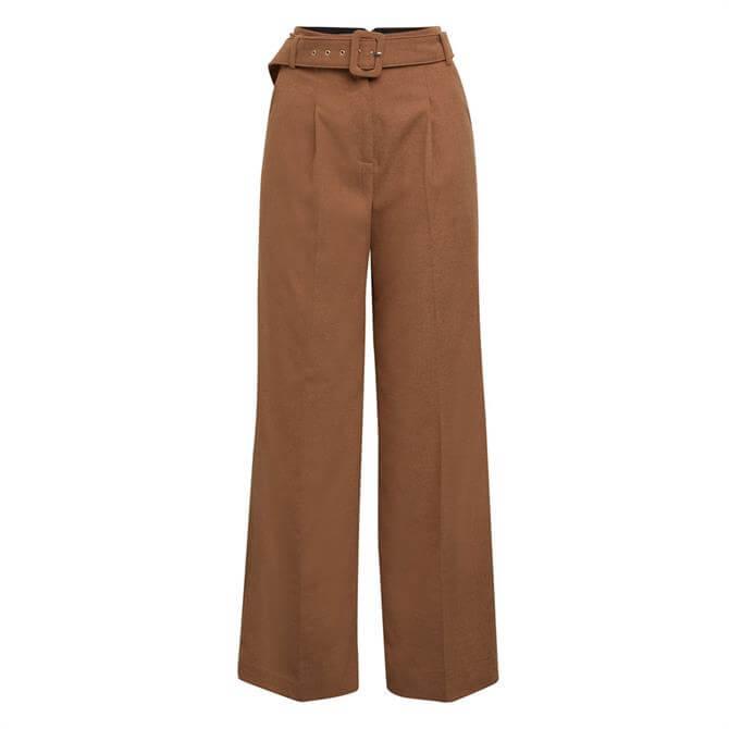 Esprit Woven Wide Leg Belted Trouser