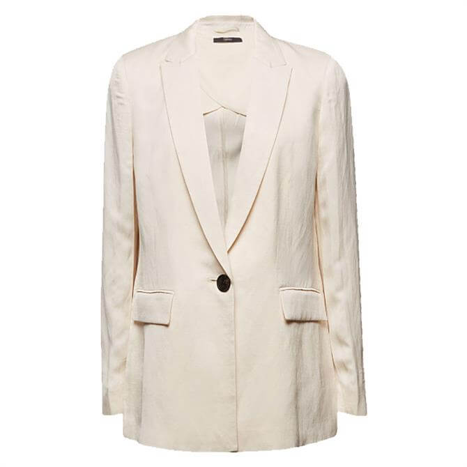 Esprit Linen Blend Fitted 1-Button Blazer