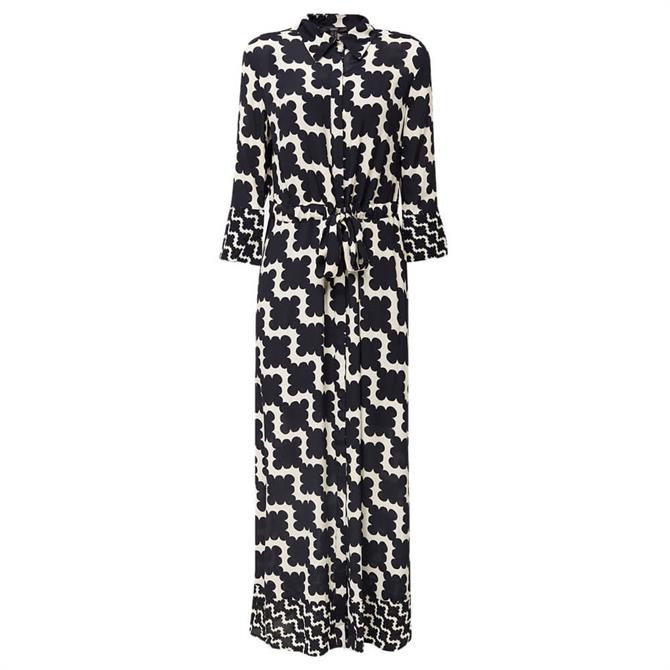 Esprit Geometric Pattern Maxi Shirt Dress